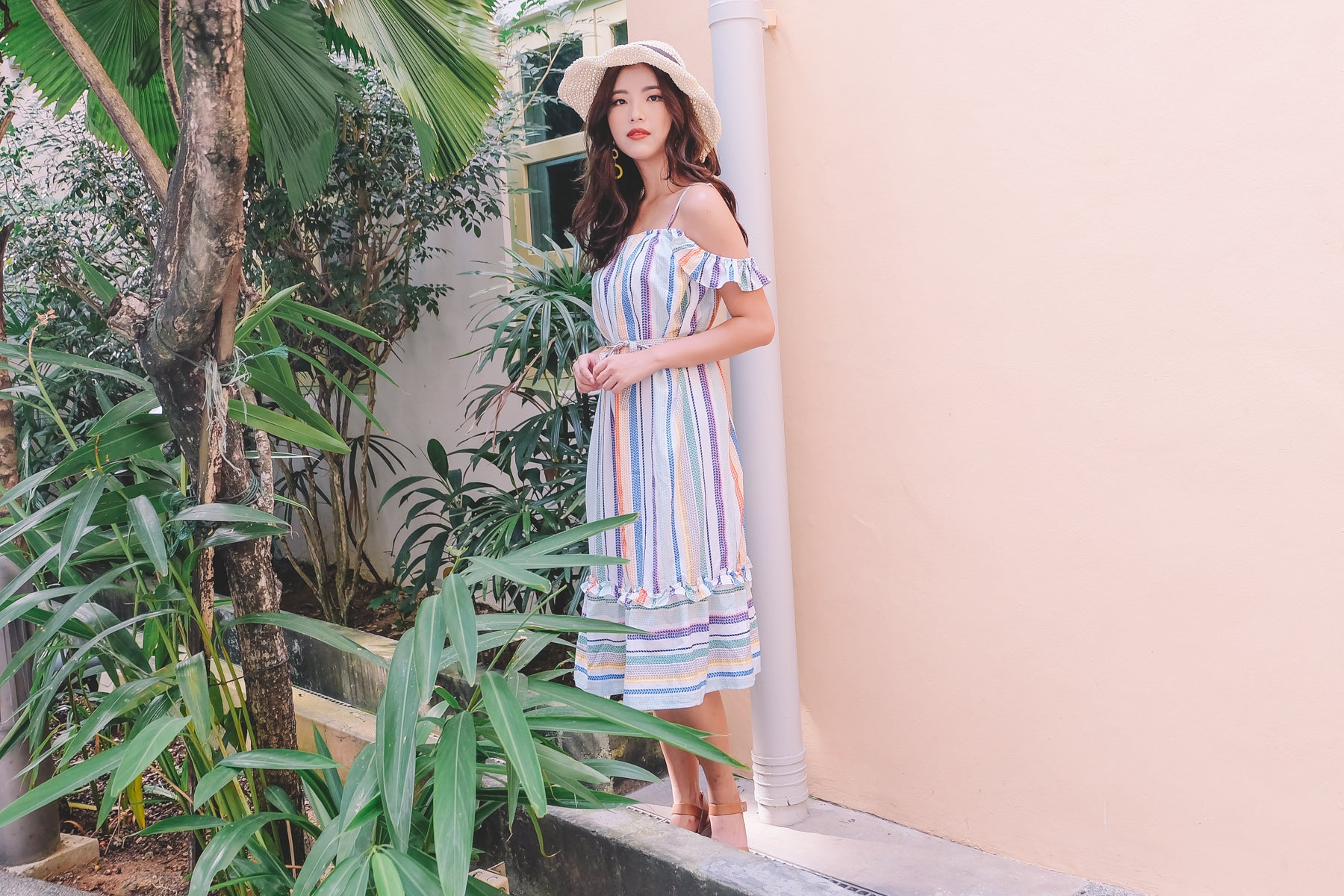 Lottie Multicolour Midi Dress