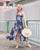 Madeline Floral Maxi Dress in Navy