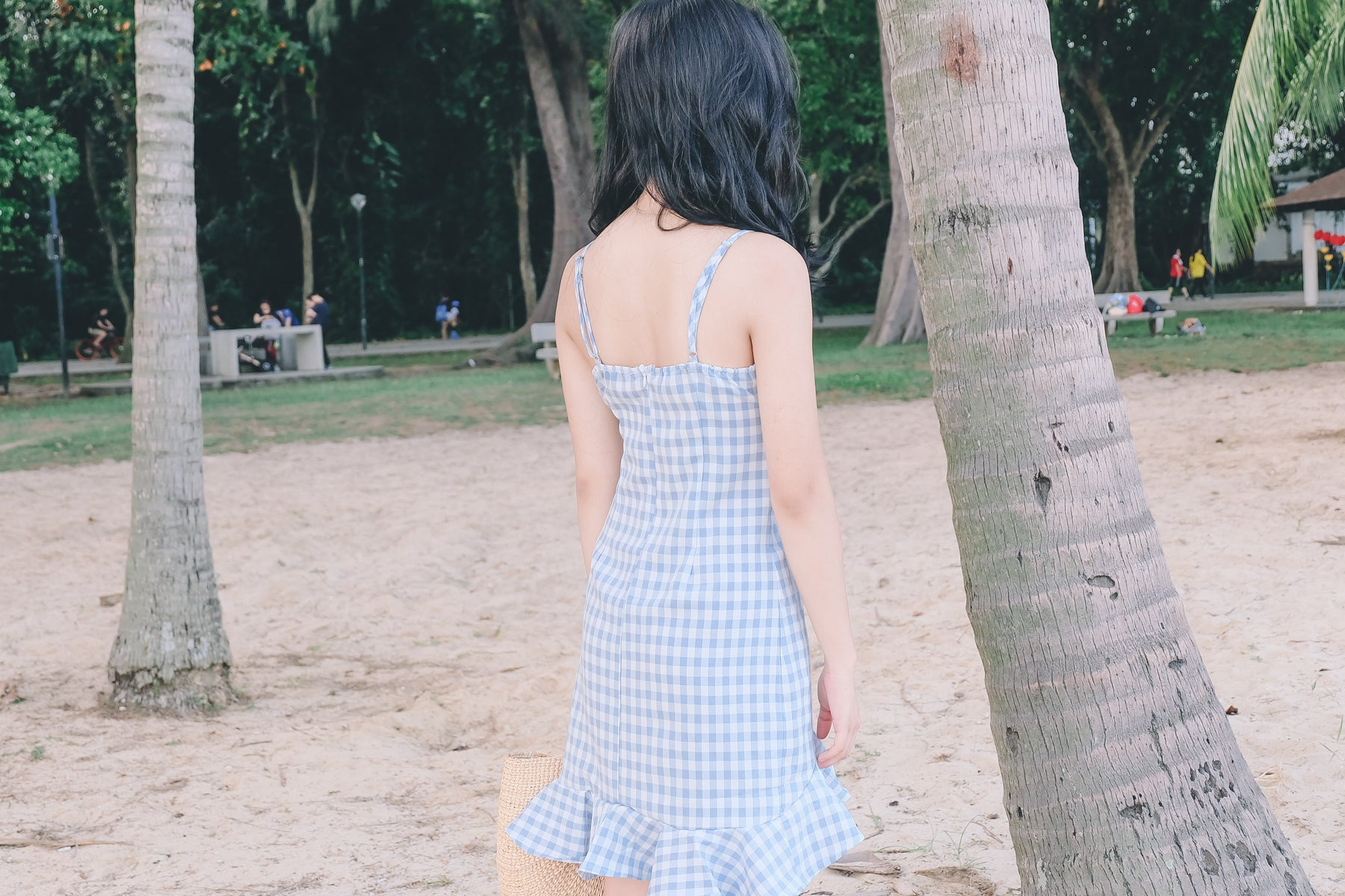 Gingham Tie-Front Dress