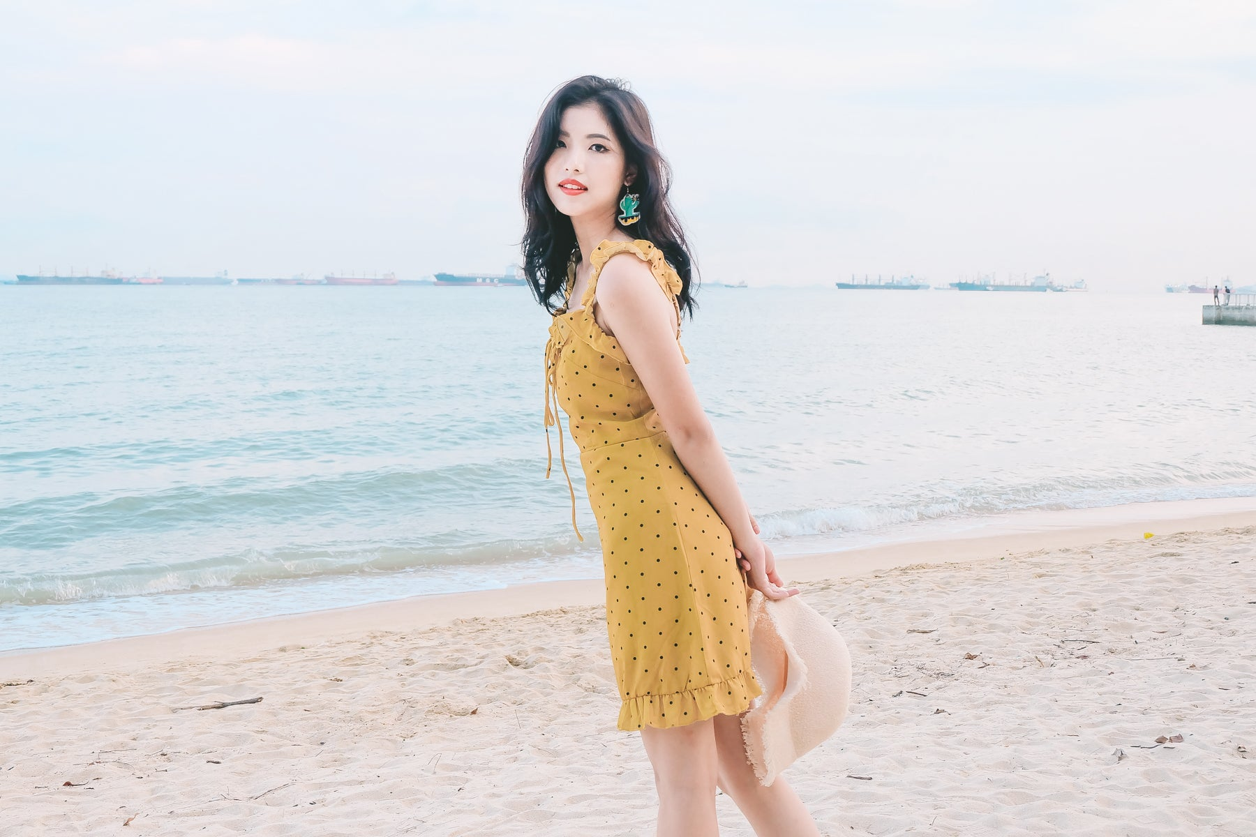 [Restocked] Polka Dot Ruffle Strap Dress