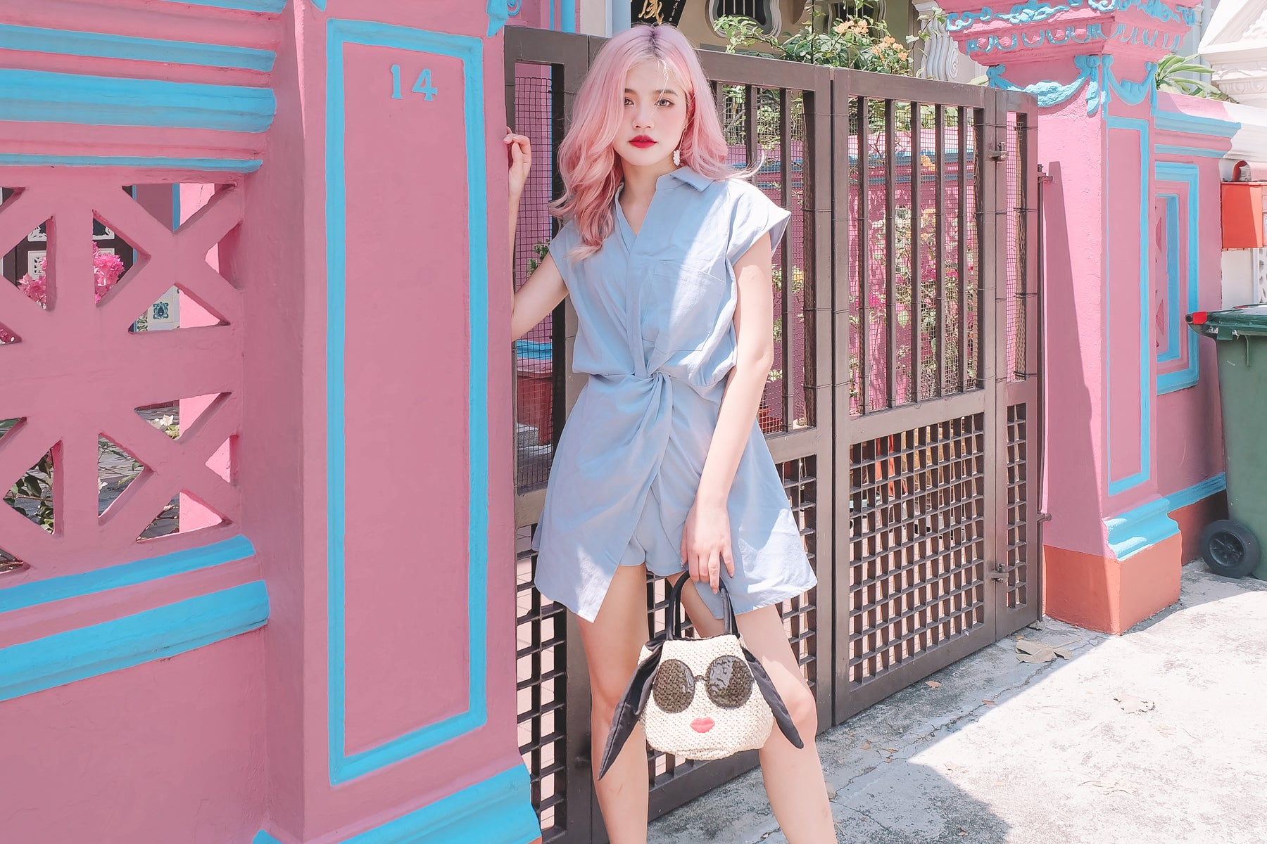 [Restocked] Twist Front Shirt Romper