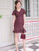 Kate Lace Dress in Wine