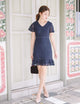 Kate Lace Dress in Navy