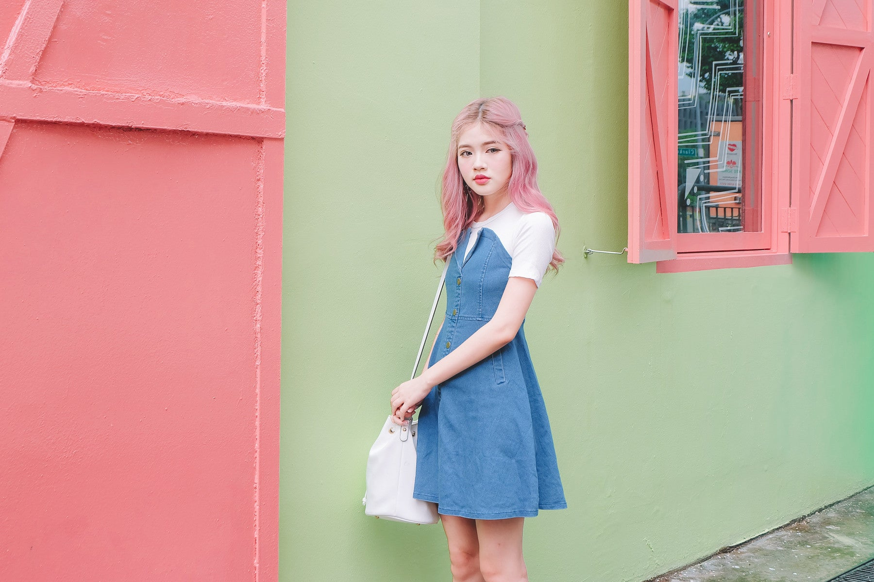 [Restocked] Faux 2-Piece Denim Dress