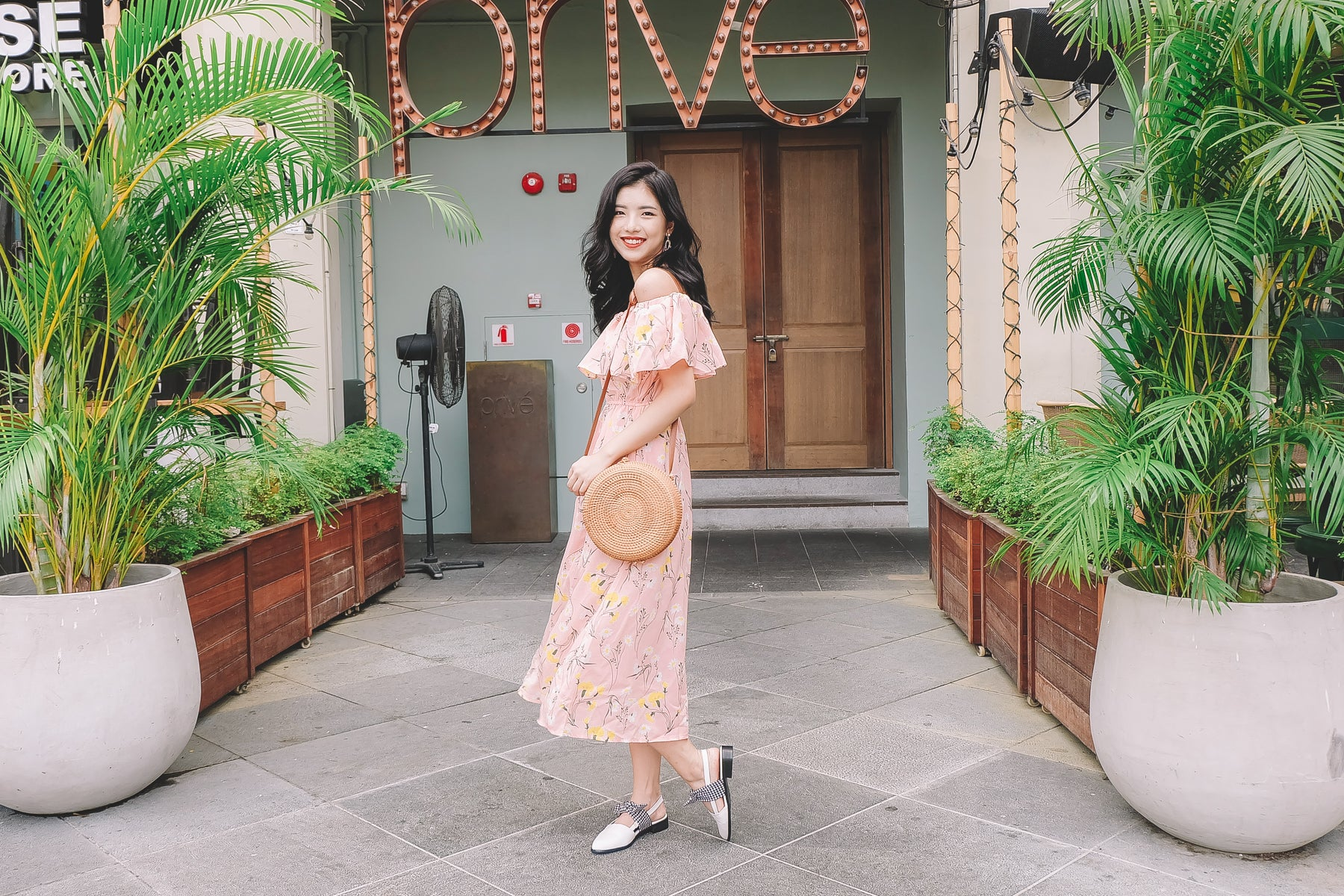 [Restocked] Lindsey Floral Off Shoulder Midi Dress in Pink