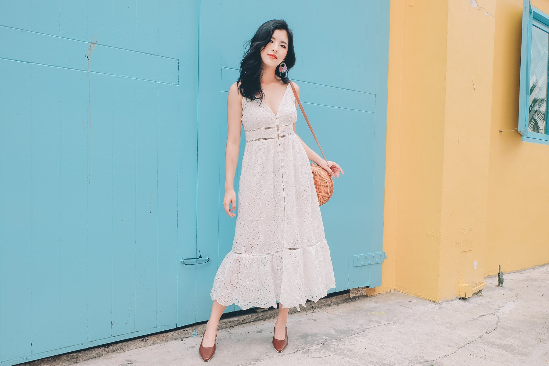 [Restocked] Zoey Eyelet Maxi Dress