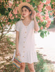 Sonia Drop Hem Dress in White