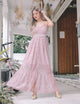 [Backorder] Avril Crochet Lace Maxi Dress in Pink