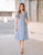Emmie Side Button Midi Dress in Periwinkle