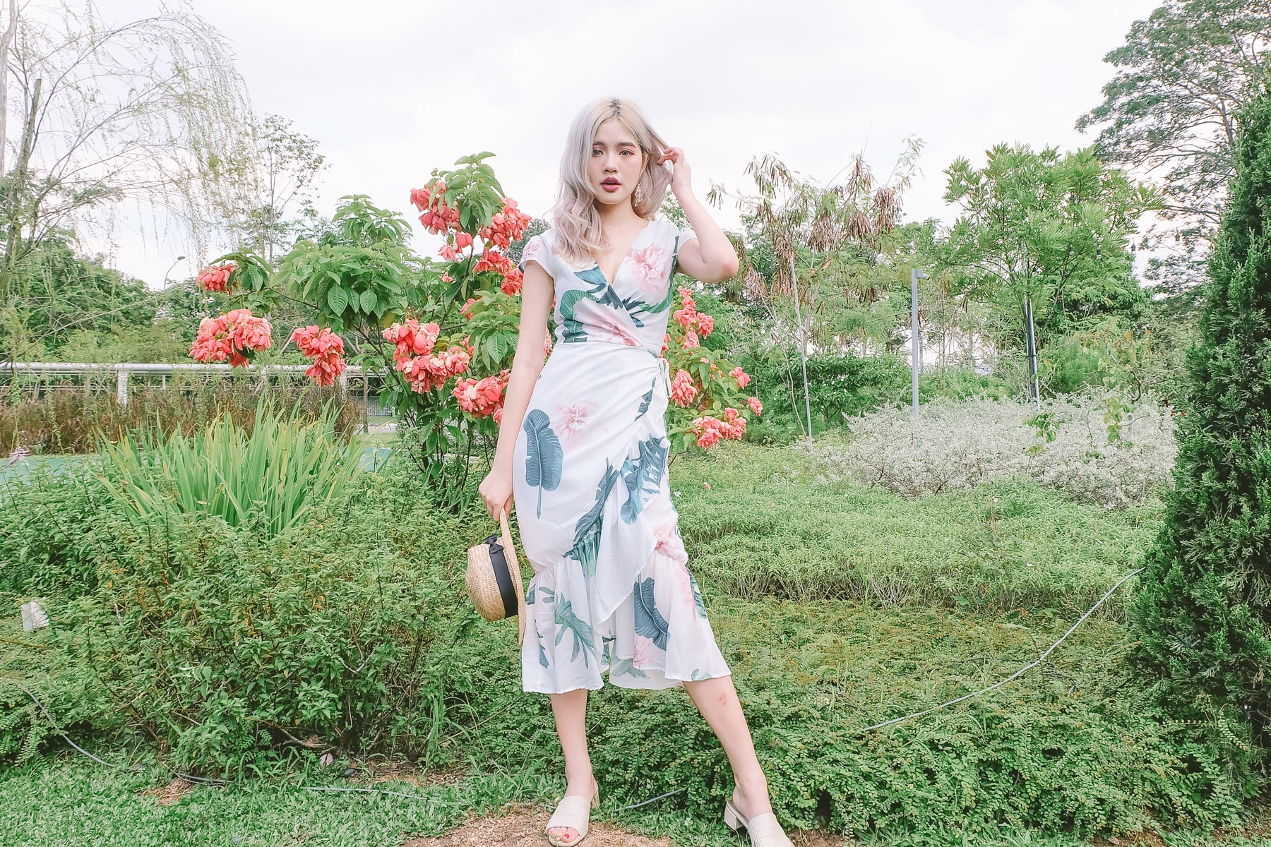 [Restocked] Elle Floral Wrap Midi Dress