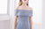 [Restocked] Neia Lace Off Shoulder Midi Dress in Periwinkle