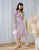 Carmen Ruched Dress in Lilac