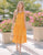Zuri Eyelet Midi Dress in Marigold