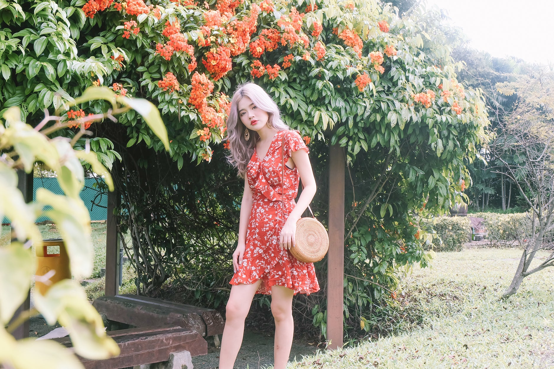 [Restocked] Floral Wrap Ruffled Dress