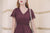 [Restocked] Ginny Eyelet Skater Dress in Burgundy