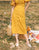 *MFW Label* Bianca Button Linen Skirt in Mustard
