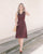 Ellis Eyelet Midi Dress in Wine