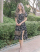 *MFW Label* Lauren Floral Midi Dress in Black