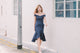 [Restocked] Celia Bardot Midi Dress in Navy