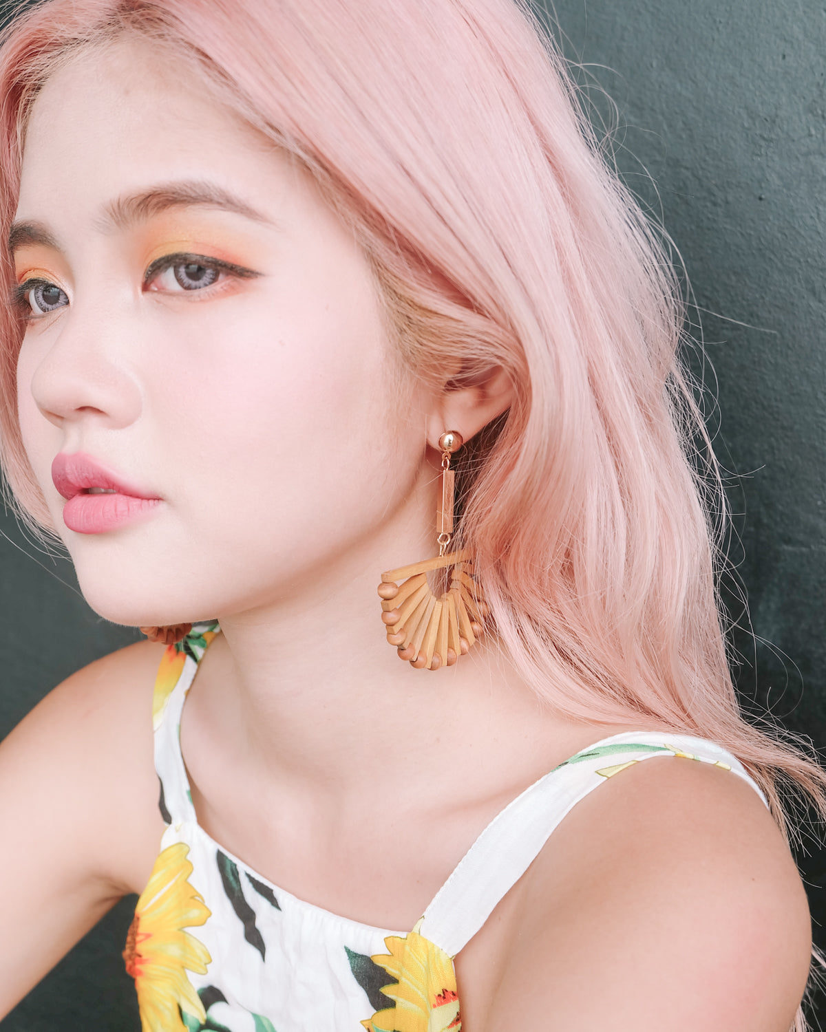 [Preorder] Semi Circle Bamboo Earrings