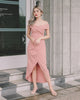 [Restocked] Daphne Off Shoulder Maxi Dress in Pink