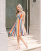 [Restocked] Rainbow Stripe Wrap Dress