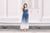 Grizel Ombre Maxi Dress in Blue/White