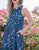 Leanne Confetti Print Midi Dress in Navy