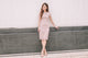 [Restocked] Aggie Lace Sheath Midi Dress in Pink
