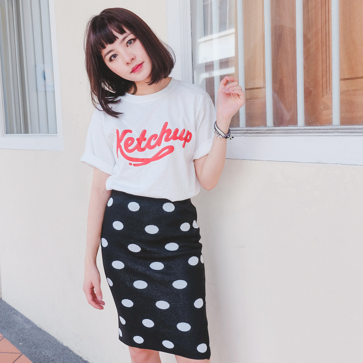[Restocked] Let's Ketchup Tee in White