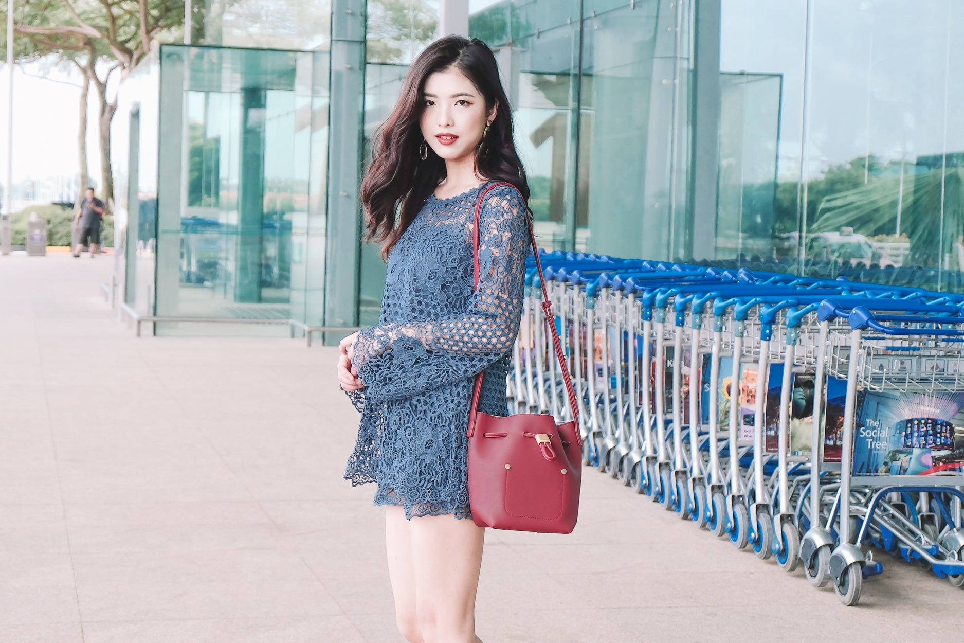 [Restocked] *PREMIUM* 3-Piece Crochet Sleeve Romper in Blue