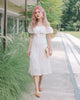 [Restocked] Lovelle Eyelet Off Shoulder Dress in White