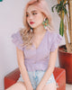 *MFW Label* Poppy Eyelet Ruffle Top in Lilac