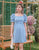 Addy Puff Sleeve Dress in Baby Blue