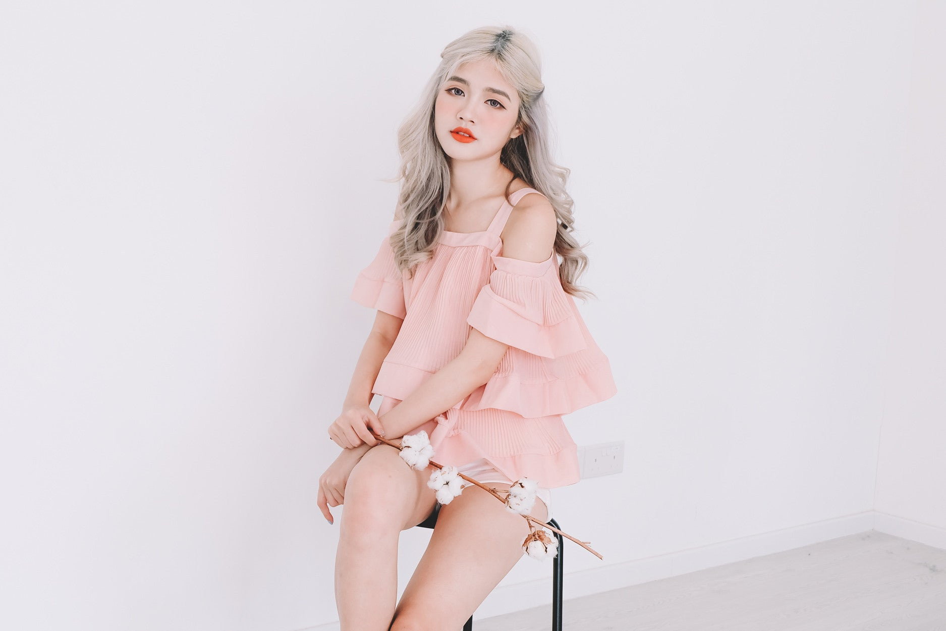 [Restocked] Layered Pleated Top in Pink
