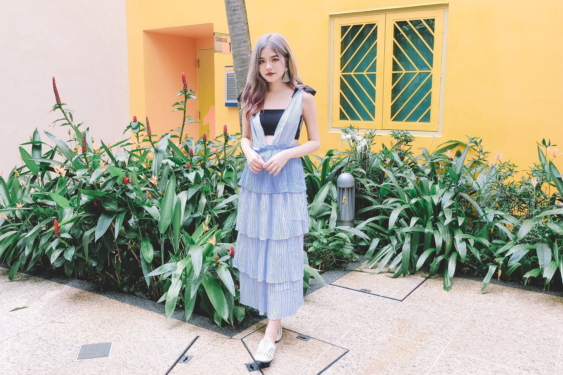 Layered Pinafore Dress