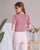 Puff Sleeve Sweetheart Knit Top in Mauve