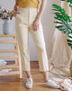 Millie Ankle Pants in Pale Yellow