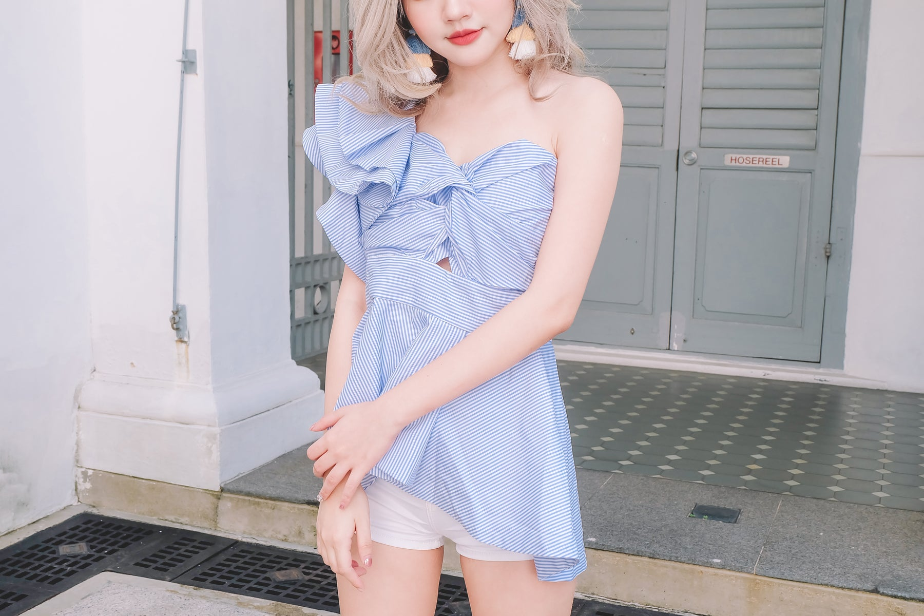 [Restocked] Sweetheart One Shoulder Ruffle Top