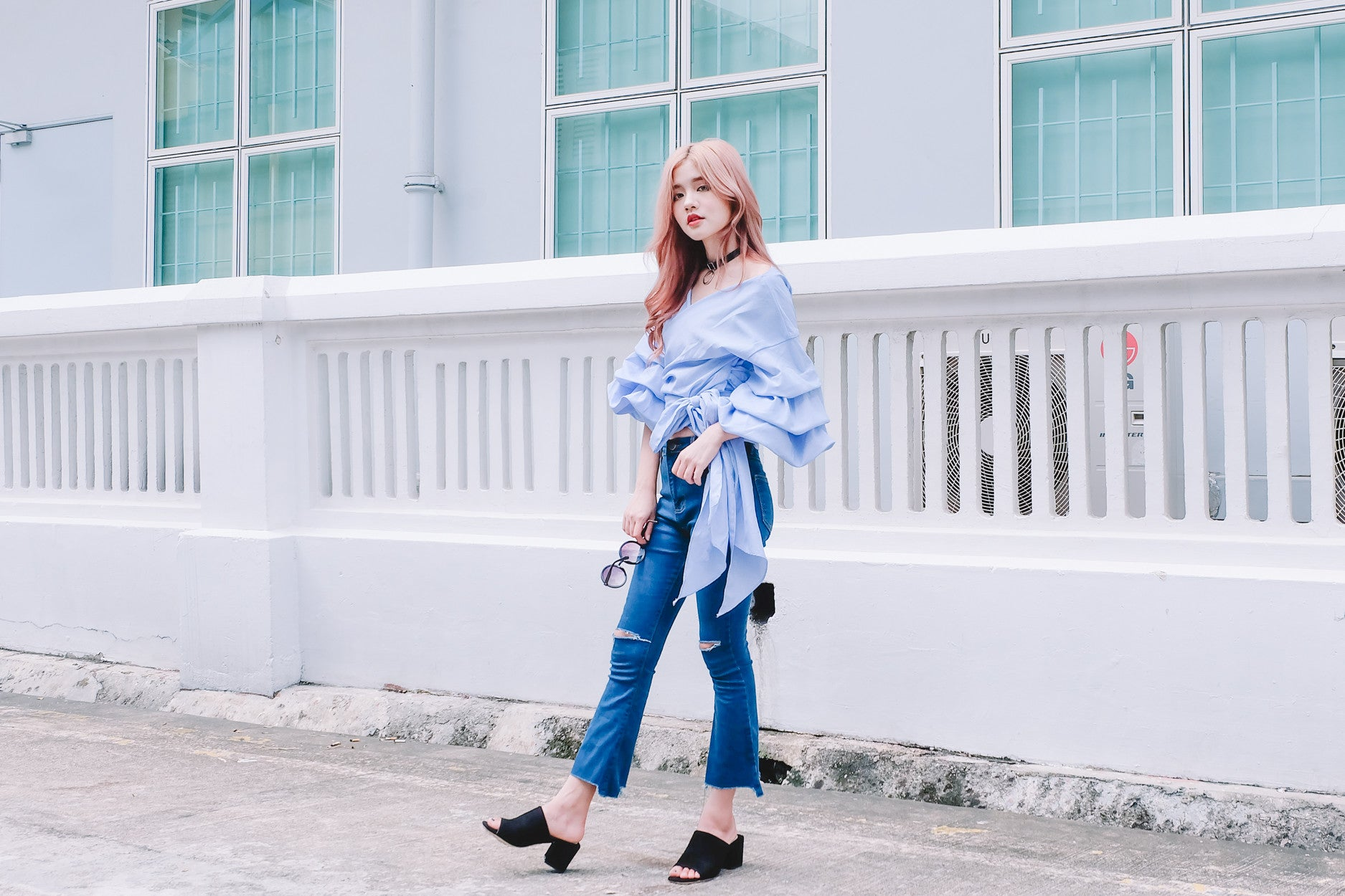 [Restocked] Wrap Front Puffy Sleeve Top