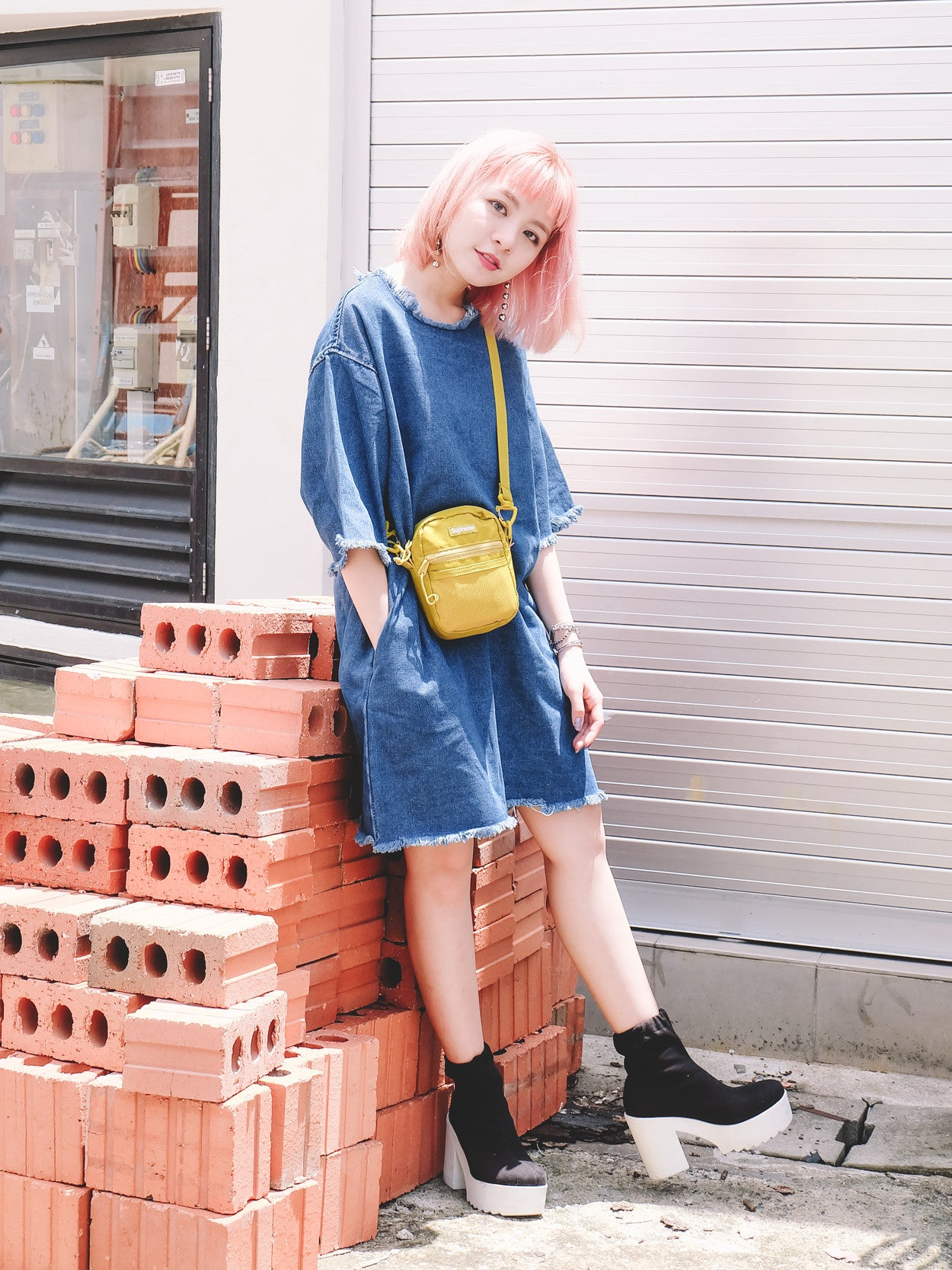 Oversized Denim Dress