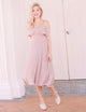 [Restocked] Remi Cold Shoulder Midi Dress in Pink