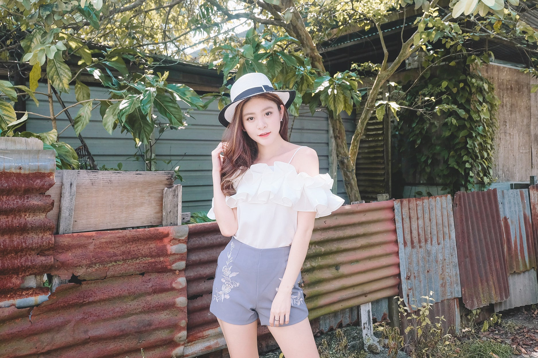[Restocked] Origami Offsie Top in White