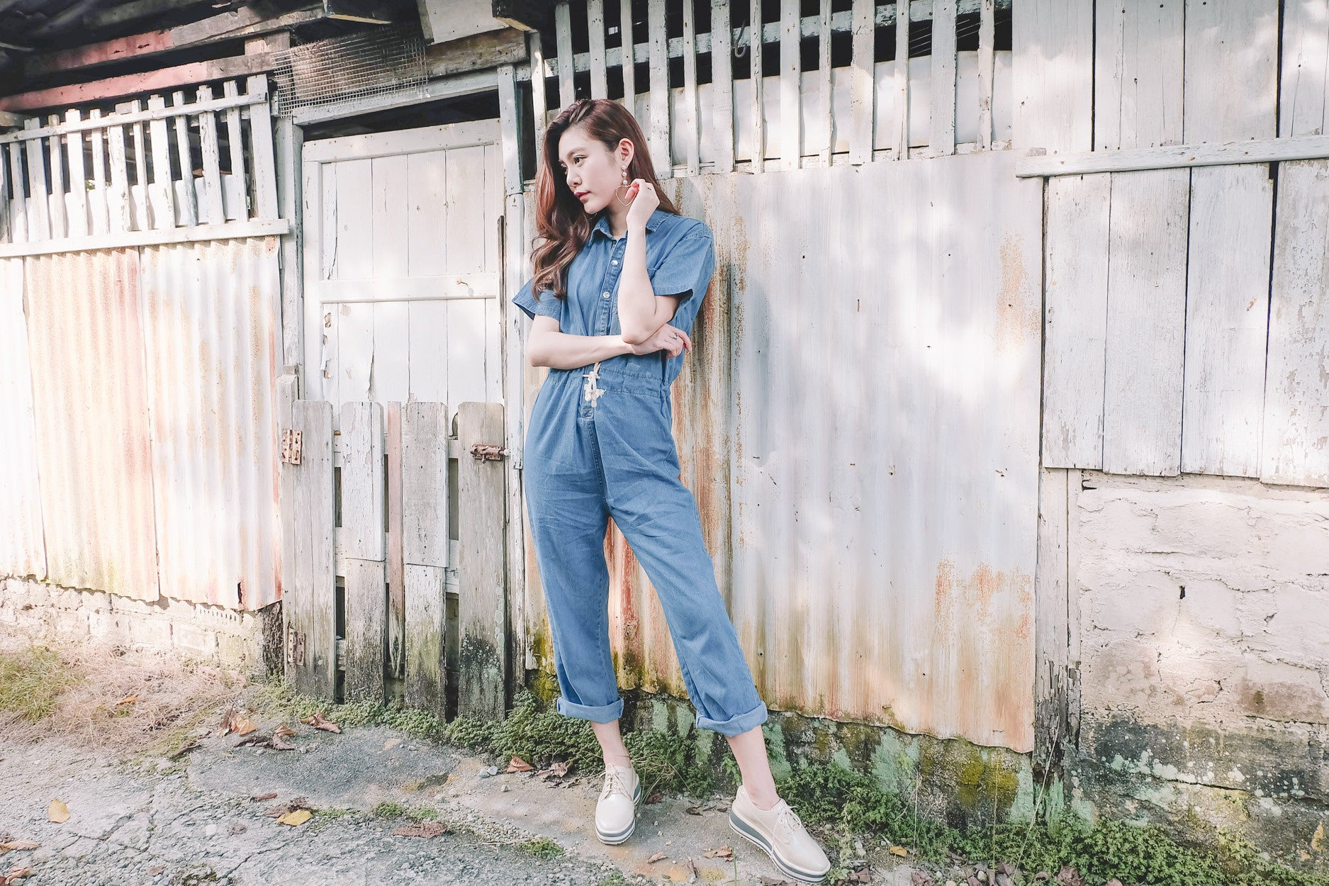 Denim Utility Jumpsuit