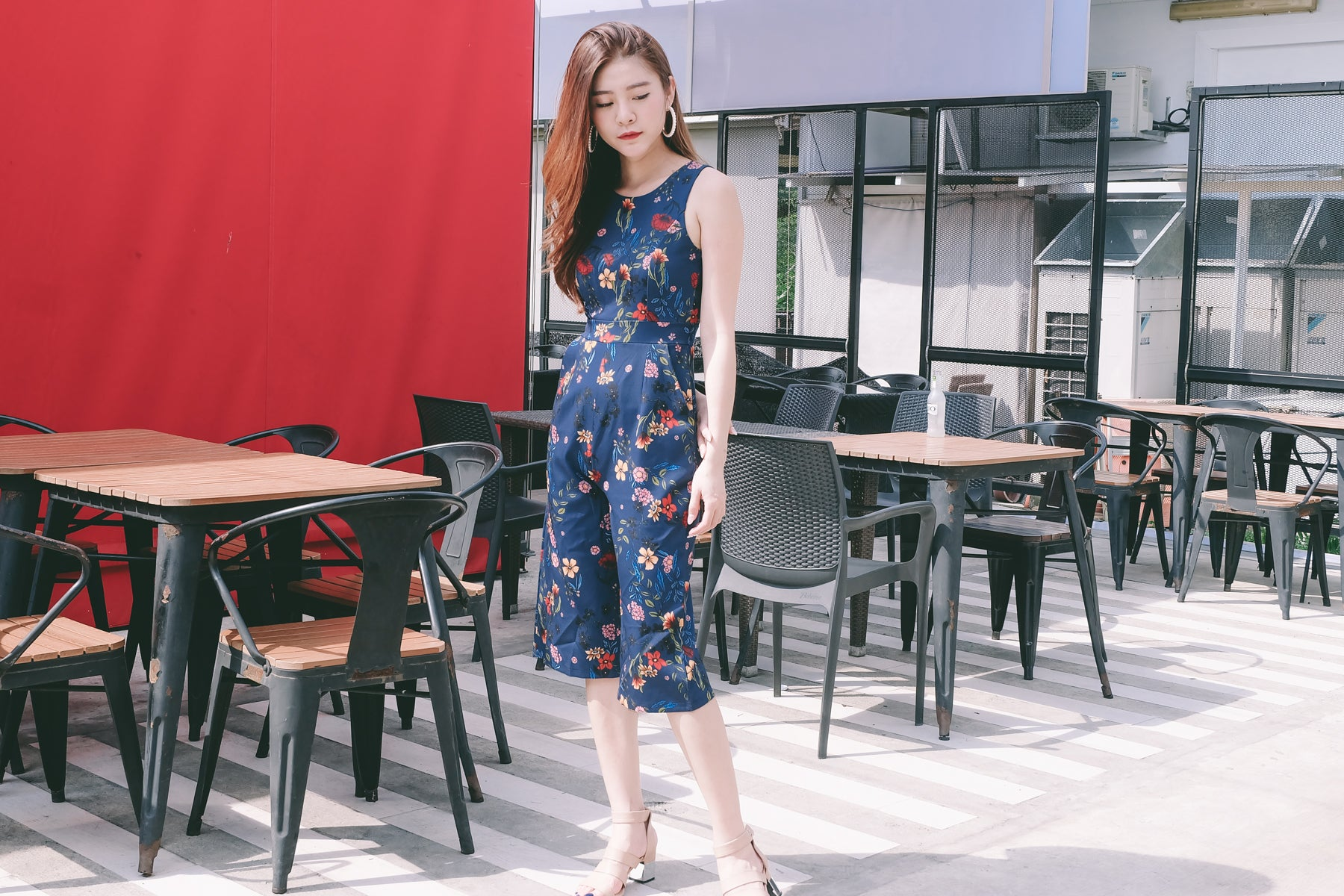 Bevin Floral Jumpsuit in Navy