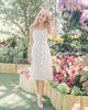 [Restocked] Yasmin Linen Midi Dress in White