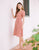 Aliyah Linen Button Dress in Pink