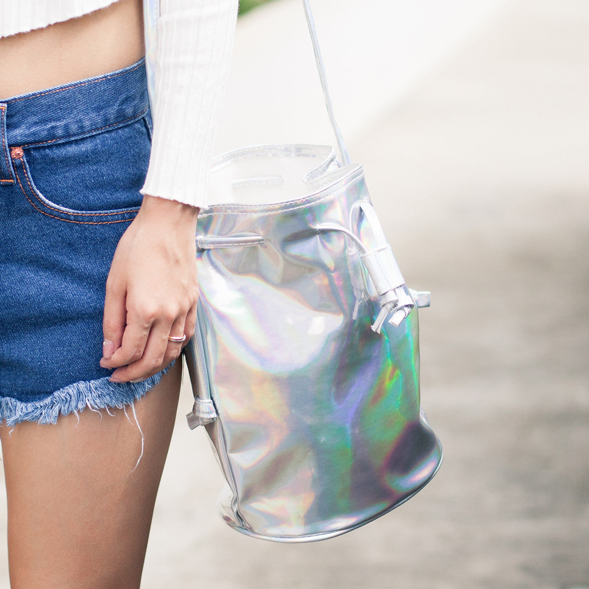 Hologram Bucket Bag