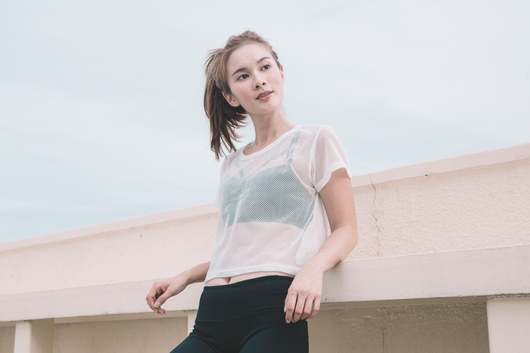 [Restocked] Mesh Sports Top in White