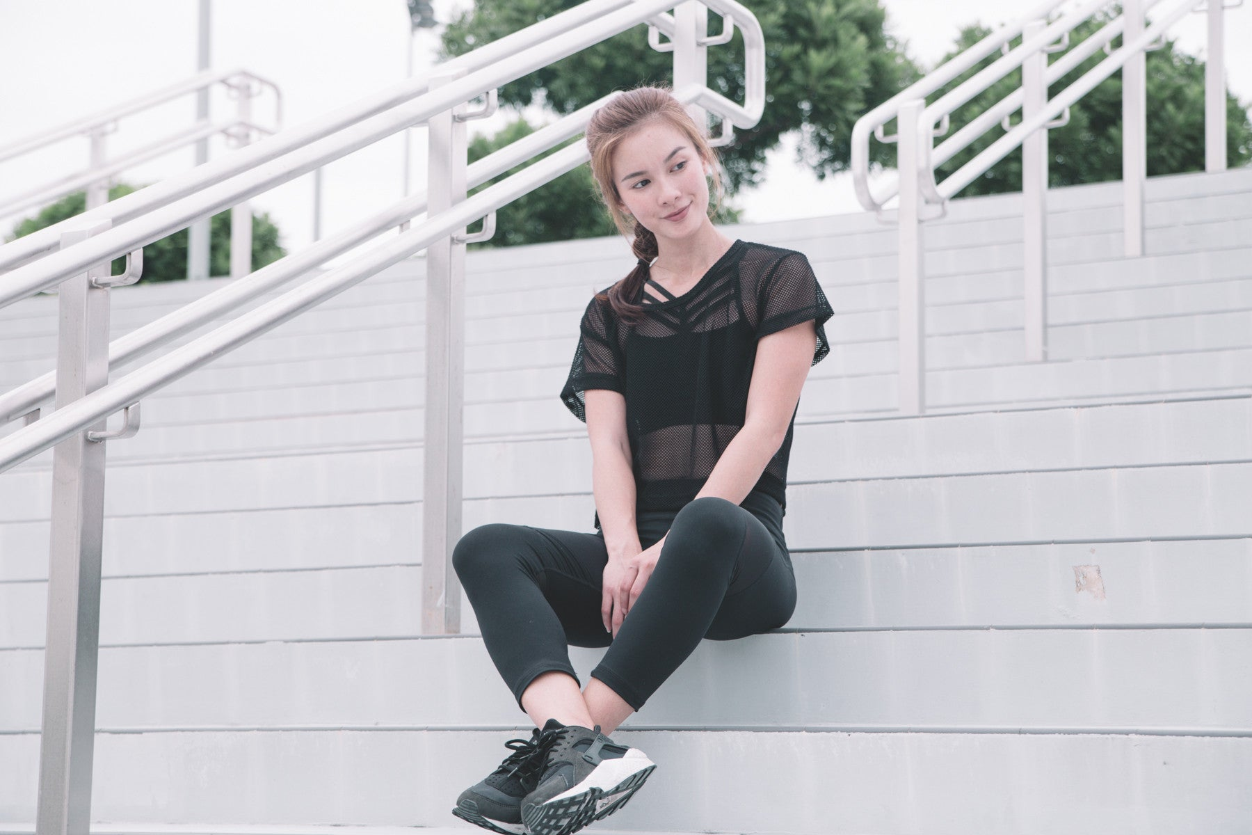 [Restocked] Mesh Sports Top in Black